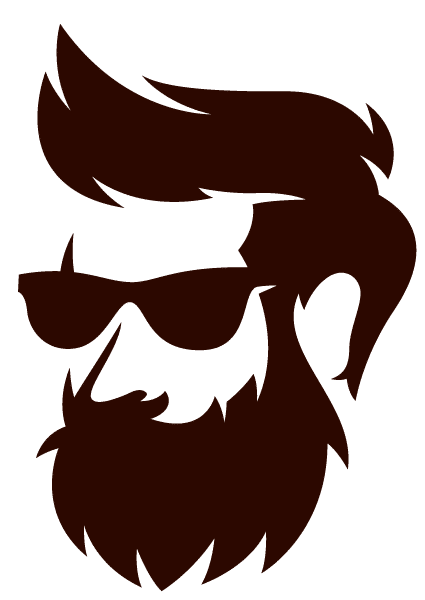 silhouette-barbe-brown