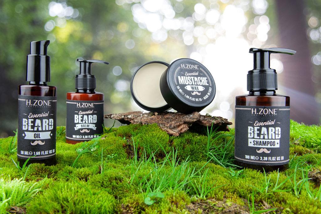 Présentation naturelle du coffret à barbe pour homme HZone