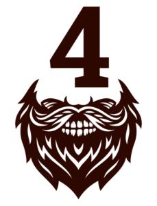 icone barbe chiffre 4