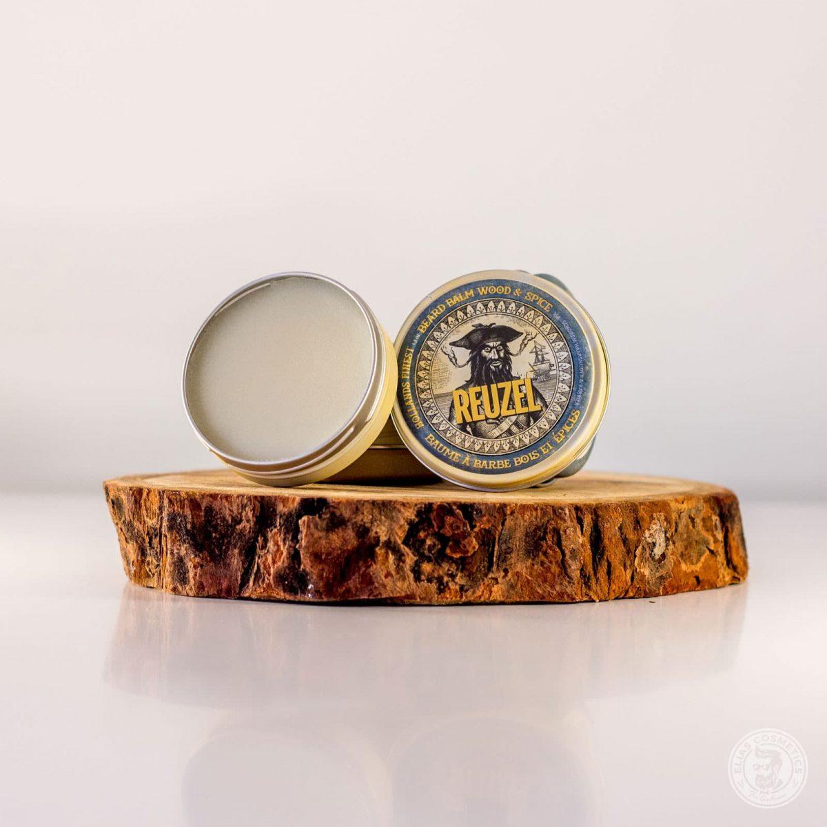 baume barbe Reuzel bois et épices boîte ouverte