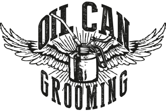logo oil can grooming