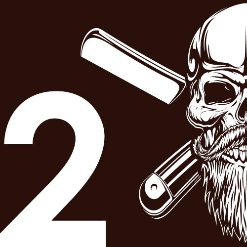 icone tête de mort barbe 2