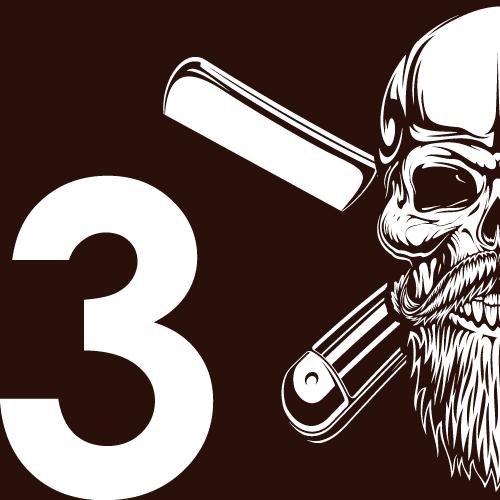 icone tête de mort barbe 3