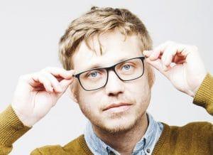 barbe duvet homme a lunette